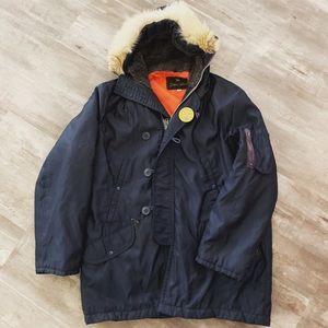 Vtg Spiewak N3B Golden Fleece Snorkel Navy Jacket